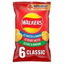 Walkers Classic Variety - 6pk - 150g
