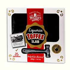 Walkers Nonsuch Liquorice Toffee Slab - 400g - Not Available 2019