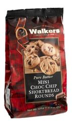 Walkers Shortbread Mini Chocolate Chip Rounds Pouch - 125g - sold out