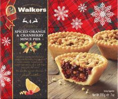 Walkers Luxury Spiced Orange & Cranberry 4 Mince Pies - 200g - Sold Out