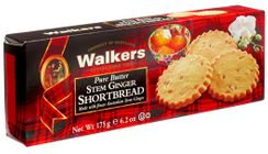 Walkers Shortbread Stem Ginger Shortbread - 175g