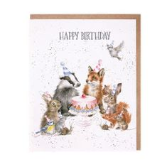 'Woodland Party' Birthday Card - 2 In Stock