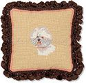 Bichon Needlepoint Pillow