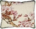 Cherry Blossoms Needlepoint Pillow