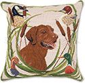 Chocolate Lab Hunting Pillow