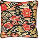 Floral and Fruit Aubusson/Flatweave Throw Pillow
