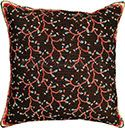 Floral Mixed Stitch Needlepoint Pillow
