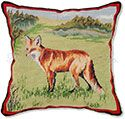 Fox Needlepoint Pillow