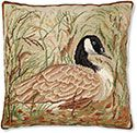 Goose Needlepoint Pillow