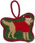 Handmade Needlepoint Golden Retriever Ornament