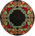 Holiday Round Hooked Rug
