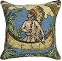Indian Needlepoint Pillow