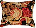 Italian Floral I Floral Needlepoint Pillow