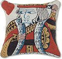 King of Hearts Playing Card Needlepoint Pillow