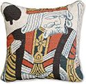King of Spades Needlepoint Pillow