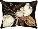 Magnolia Blossoms Needlepoint Pillow