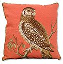 Owl Needlepoint Pillow