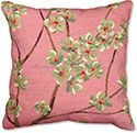 Pink Plum Blossom Floral Pillow