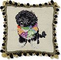 Portuguese Water Dog Decorative Pillow