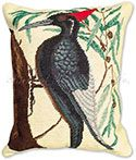 Red Head Woodpecker Pillow