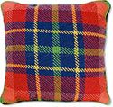 Red Plaid Needlepoint Pillow