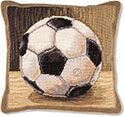 Soccer Ball Needlepoint Pillow