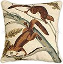 Soft Haired Squirrel Decorative Audubon Pillow