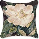 Southern Magnolia Needlepoint Pillow