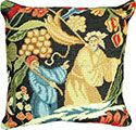 Tapestry Needlepoint Throw Pillow