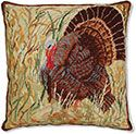 Thanksgiving Turkey Needlepoint Pillow