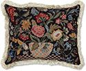 Tuscan Flowers Petit Point Pillow
