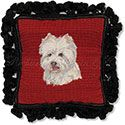 Westie Needlepoint Dog Pillow