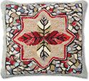 Woodland Autumn Seasonal Hooked Pillow