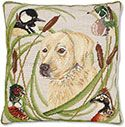 Yellow Lab Hunting Pillow