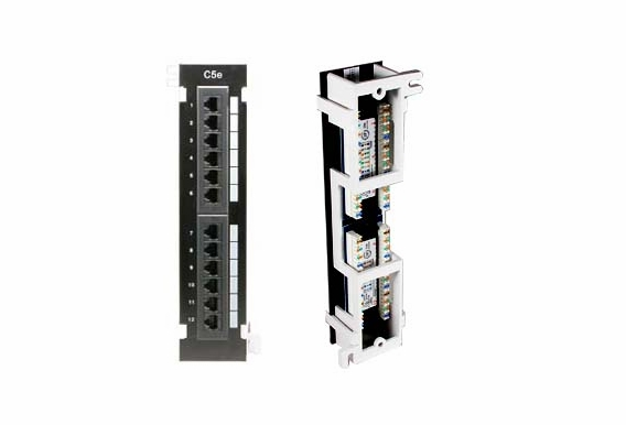 12 Port Vertical Patch Panel w/ Bracket