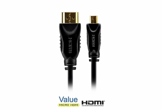 12ft High Speed HDMI® to Micro D HDMI Cable with Ethernet V1.4