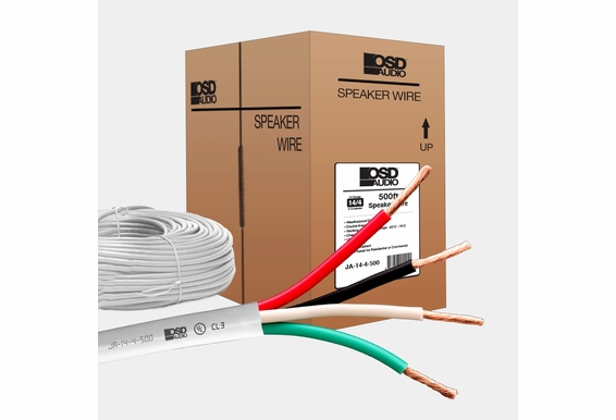 14 Gauge 4-conductor Oxygen Free Burial Rated In-Wall Speaker Cable 500ft CL3