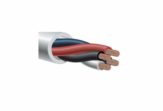Four Conductor Speaker Wire | 14 Gauge 4 Conductor Oxygen Free Burial Rated In Wall Speaker
