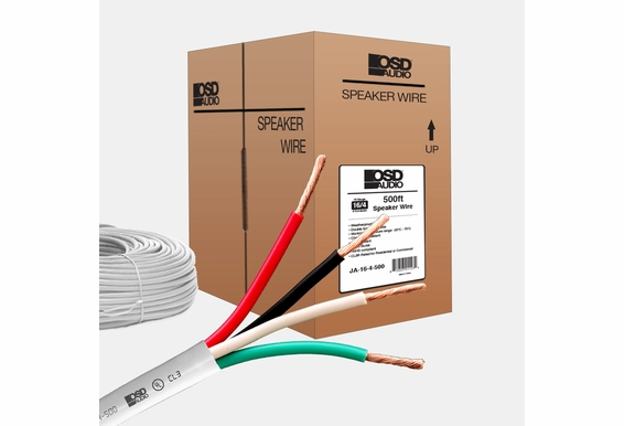 16 Gauge 4-conductor Oxygen Free Burial Rated In Wall Speaker Cable 500ft CL3