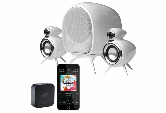 2.1 Active Speaker Pair with Subwoofer + Nero Link WIFI Wireless Streaming Receiver
