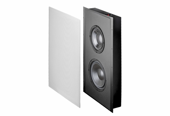 """300W 8"""" In-Wall Subwoofer with an 8"""" Injected Polypropylene Woofers and 10"""" Passive Radiator, 300W (8ohm) - OSD Audio SL800D"""