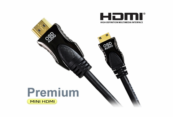 3ft High Speed HDMI® to Mini HDMI Cable with Ethernet V1.4