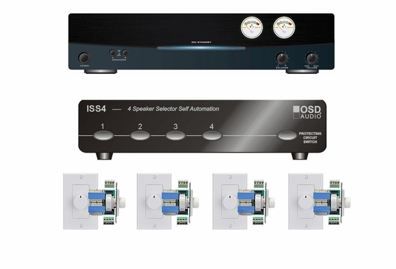 4 Zone Multi-room Audio System OSD Audio