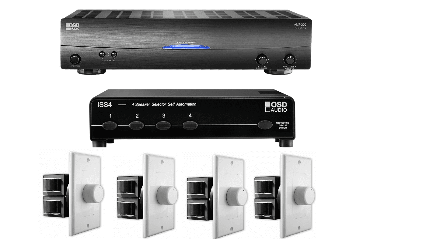 4-Zone Multi-Room Audio System - OSD Audio