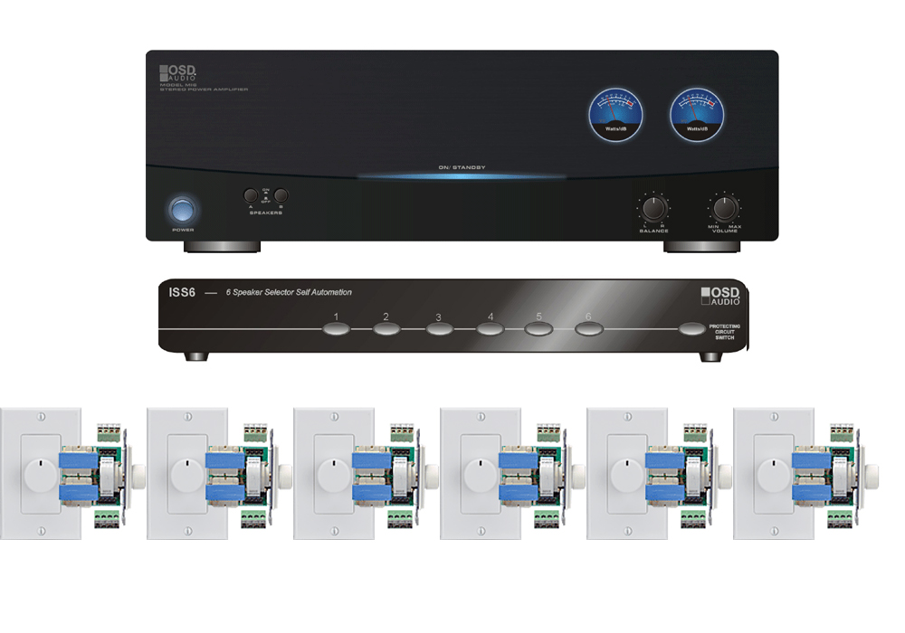 6 Zone Multiroom Audio Kit For Housewide: Home Multi Room Audio Wiring At Satuska.co