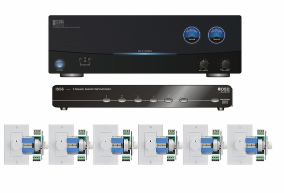 6 Zone Multi-room Audio Kit for House-wide Audio