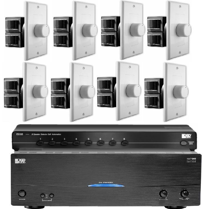 8 zone multi-room audio kit for house-wide audio