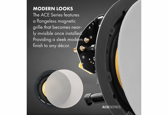 "ACE550 5.25"" Kevlar® Trimless Thin Bezel Ceiling Speaker Pair"