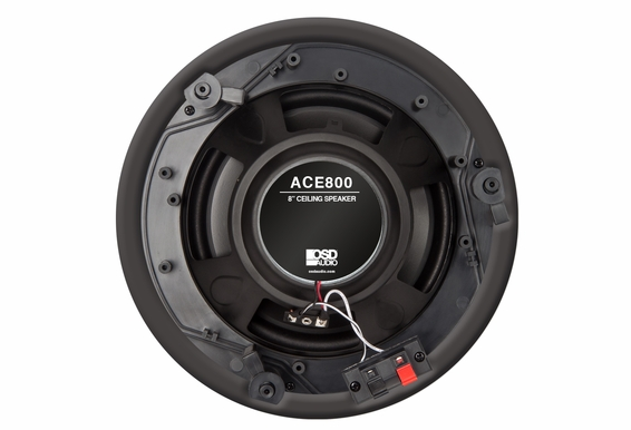 "ACE800 Trimless 8-Inch 120W 2-Way In-Ceiling Speaker 8"" Woofer 1"" Swivel Dome Tweeter  Paintable Grill  (White, Pair) - OSD Audio"
