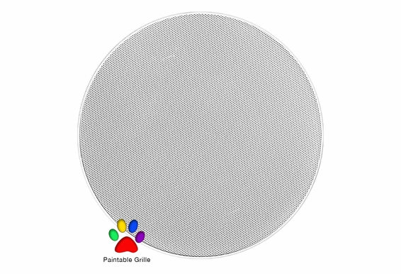 """ACE800 Trimless 8-Inch 120W 2-Way In-Ceiling Speaker 8"""" Woofer 1"""" Swivel Dome Tweeter  Paintable Grill  (White, Pair) - OSD Audio"""